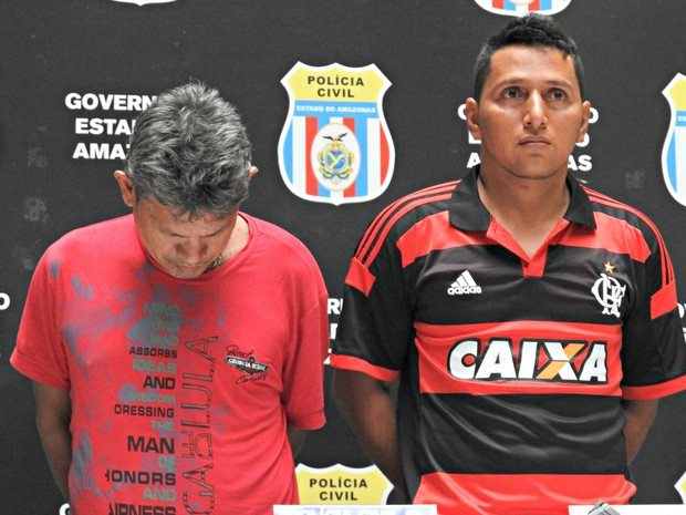 Caseiro (esquerda) e Deivid (direita) foram presos em flagrante (Foto: Ísis Capistrano/ G1)