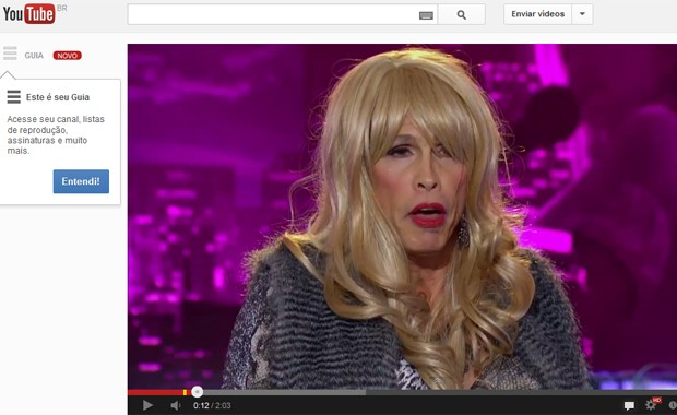 Steven Tyler em cena do 'American idol', divulgada na quinta-feira (31) no canal do programa no YouTube (Foto: Reprodução / YouTube)
