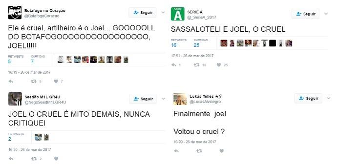 Joel, Botafogo (Foto: Reprodução)