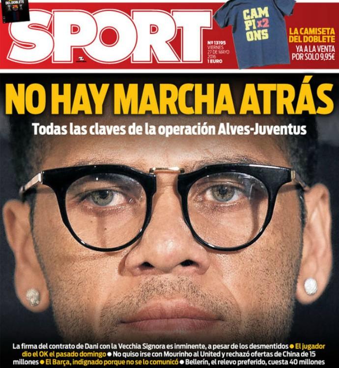 Capa Sport Daniel Alves Barcelona (Foto: Reprodução / Site Oficial)