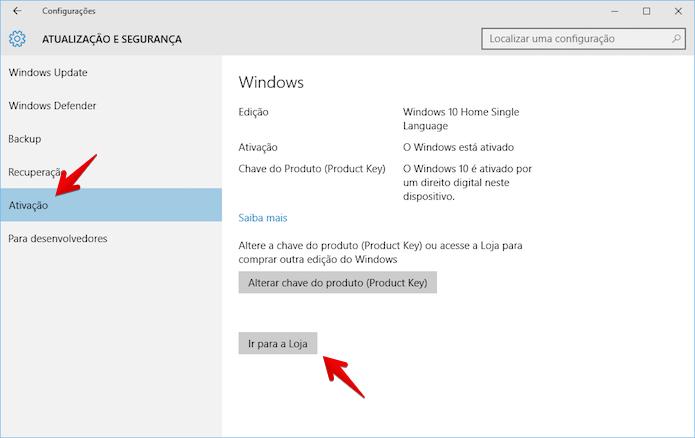 Fazendo upgrade para o Windows 10 Pro (Foto: Reprodução/Helito Bijora)
