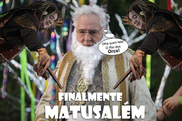 Finalmente, Matusalém! (Foto: Malhação / TV Globo)