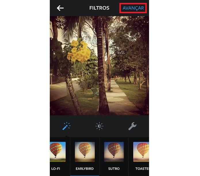 Selecione ou crie um arquivo que deseja editar no Instagram (Reprodução/Karla Freire)