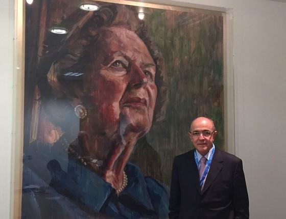 Deputado José Carlos Aleluia exibe a foto de Margaret Thatcher em aplicativo de mensagem (Foto: Reprodução)