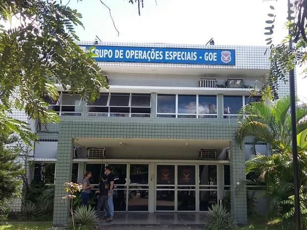 Grupo de Operações Especiais (GOE) (Foto: Cacyone Gomes/ TV Globo)