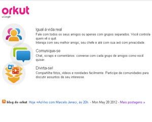Usuários poderão unificar seus perfis no Orkut com o do Google+ (Foto: Reprodução)