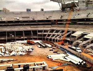obras na Arena Palestra (Foto: Leo Bianchi / TV Globo)