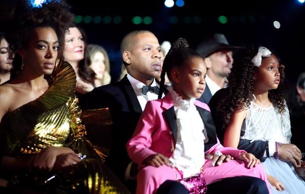 Blue Ivy Carter e Jay-Z (Foto: AFP)