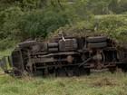 Caminhão do Exército capota, um militar morre e 5 ficam feridos em MS