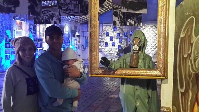 Moraes visita museu de Chernobyl (Foto: Divulgação)