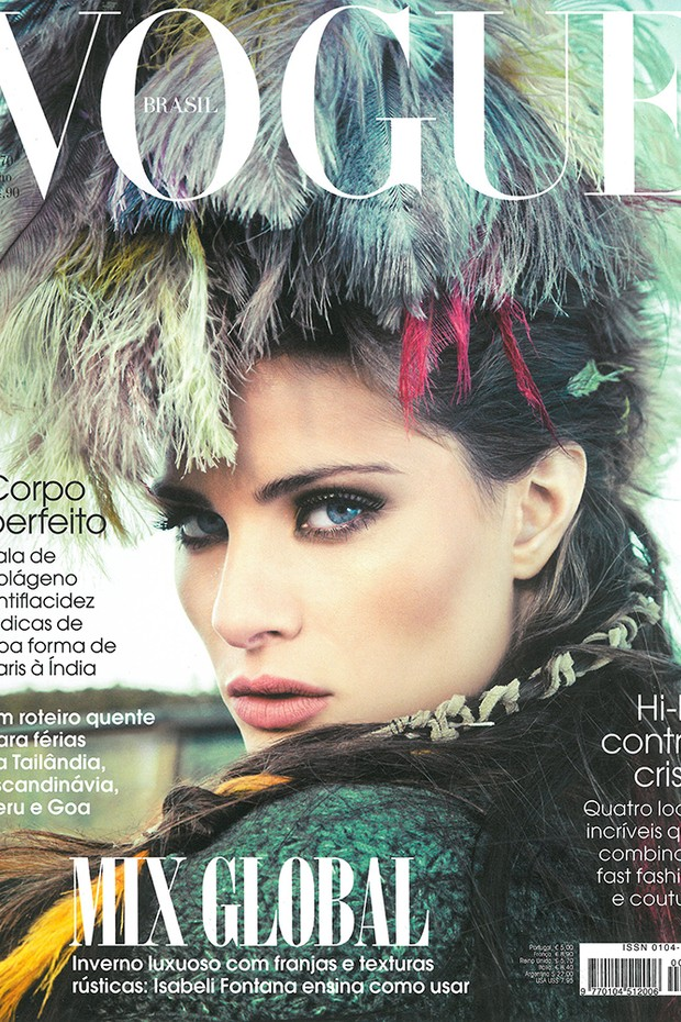 Always in Vogue  Isabeli Fontana é a recordista de capas da Vogue Brasil -  Vogue   News 9abba95a91