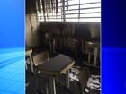 Menor que ateou fogo em salas de aula de escola é identificado