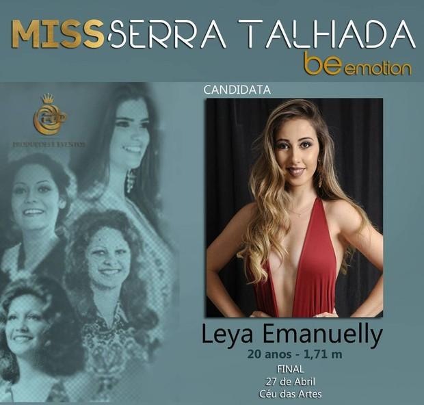 Leya Emanuelly participa do Miss Serra Talhada 2017 (Foto: Reprodução/Instagram)