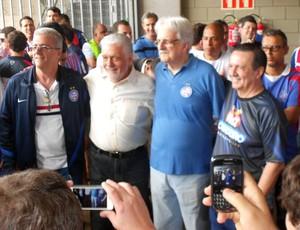 Antônio Tillemont, Jaques Wagner, Fernando Schmidt e Rui Cordeiro; Bahia (Foto: Raphael Carneiro)