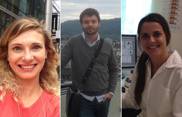 Paola de Andrade, Vitor Hugo e Vivian Vasconcelos são bolsistas pelo Ciências Sem Fronteiras e fazem pós-graduação em universidades que estão entre as 100 melhores do mundo (Foto: Arquivo pessoal)