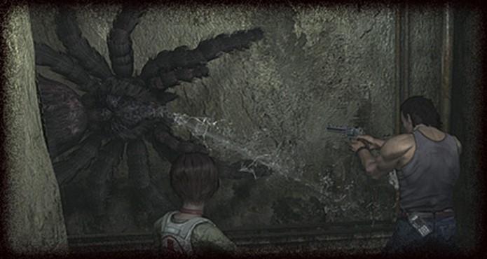 Resident Evil Zero HD Remaster: cuidado com o veneno da Giant Spider (Foto: Divulgação/Capcom)