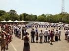 Festa de natal no 6º Batalhão da PM reuniu 600 famílias em Santos, SP