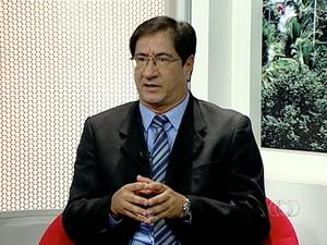 Luís Cláudio, candidato ao governo do Tocantins pelo PRTB (Foto: Reprodução/TV Anhanguera)