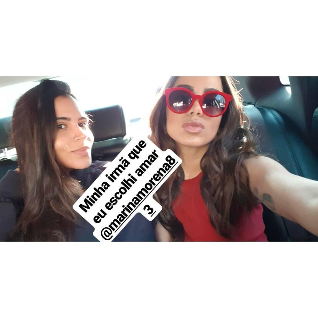 Anitta e Marina Morena (Foto: Reprodução/ Instagram)