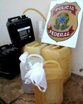 Gasolina contrabandeada da Bolívia (Foto: Alexandre Lima/ Arquivo pessoal)