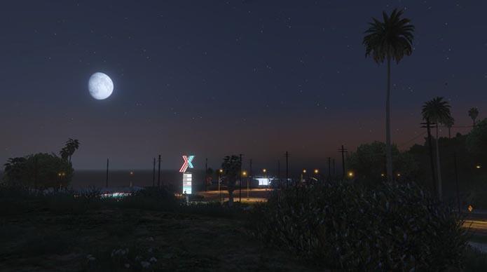 Lua muda como na vida real (Foto: Reprodução/GTAGuru)