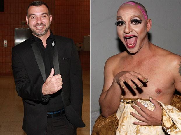 Ex-BBB Vagner Lara em março de 2015 e nos bastidores de seu show como drag queen (Foto: Celso Tavares/ EGO)