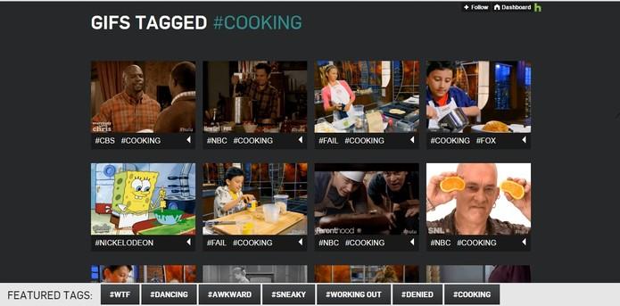 Os GIFs são separados por hashtags que facilitam a pesquisa (Foto: Reprodução/Hulu)