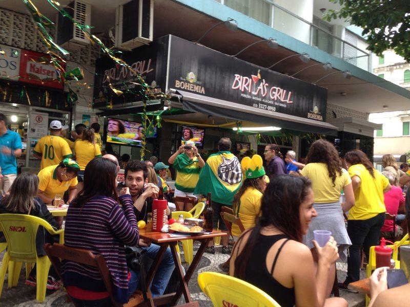 Festa da torcida brasileira na baixada santista (Foto: Izabella de Paula)