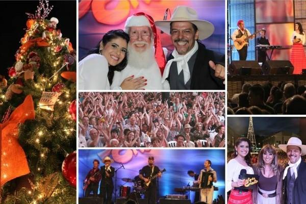 Galpão na chegada do Papai Noel (Foto: Verônica De Giacomo/RBS TV)