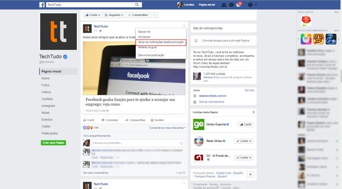 Tutorial Facebook-2 (Foto: Reprodução/Carolina Ochsendorf          )