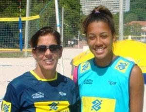 Drussyla e Jacqueline Silva v&#244;lei de praia (Foto: Guilherme Torres / CBV)
