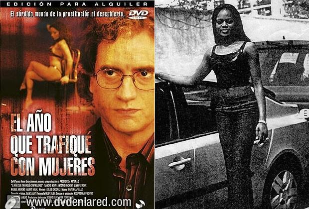 À esquerda, imagem do filme inspirado em uma obra de Salas. À direita, Edith Napoleon, a prostituta nigeriana assassinada (Foto: Reprodução)