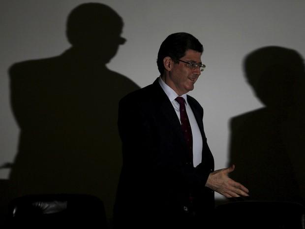 O ministro da Fazenda, Joaquim Levy, durante a abertura do 2º Seminário Internacional Governança e Desenvolvimento no Tribunal de Contas da União, em Brasília (Foto: Ueslei Marcelino/Reuters)