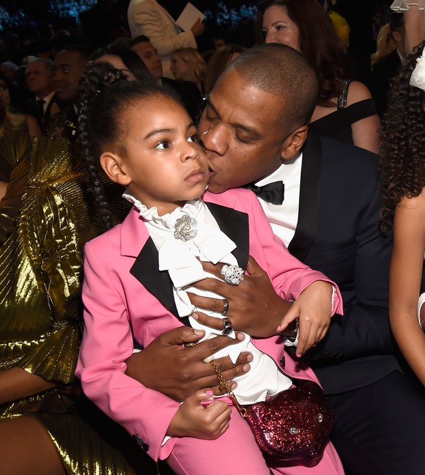 Blue Ivy e Jay Z no Grammy (Foto: Agência Getty Images)