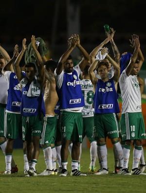 Palmeiras comemora vitória em Londrina (Foto: César Greco / Ag. Palmeiras / Divulgação)