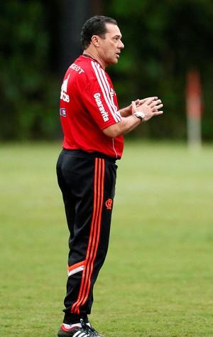 Vanderlei Luxemburgo com Alecsandro no treino do Flamengo (Foto: Marcos Tristão / Agência O Globo)