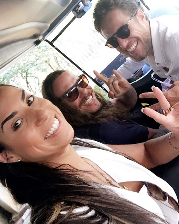 Juliana, Tamiel e Daniel (Foto: Reprodução/Instagram)