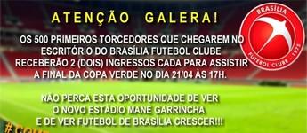 Diretoria do Brasília faz promoção e doa ingressos (Foto: Reprodução/Facebook)