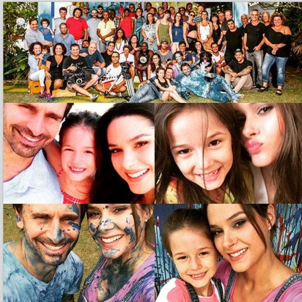 Fernanda com a equipe responsável pelo filme (Foto: Reprodução - Instagram)