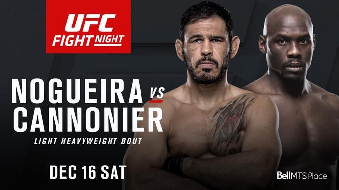 Rogerio Minotouro Nogueira Jared Cannonier UFC (Foto: Divulgação/UFC)