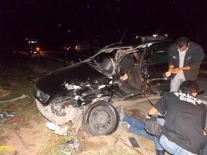Motorista bateu de frente quando fazia uma curva. (Foto: Reprodução/ Inter TV dos Vales)