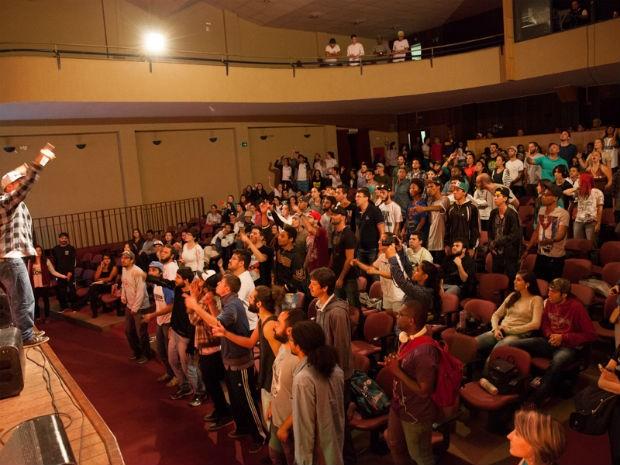 Show do Inquérito encerrou encontro de Arte na Periferia (Foto: Bruno Alves/Flipoços)