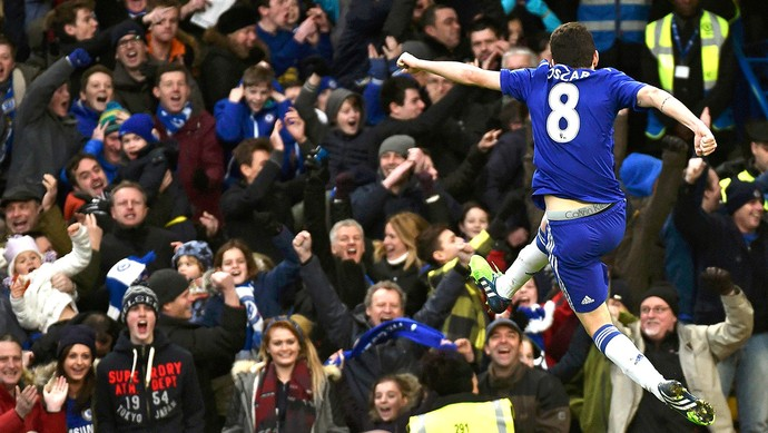 461c447aac3b7 Oscar comemora gol do Chelsea contra o Newcastle (Foto  Agência Reutes)