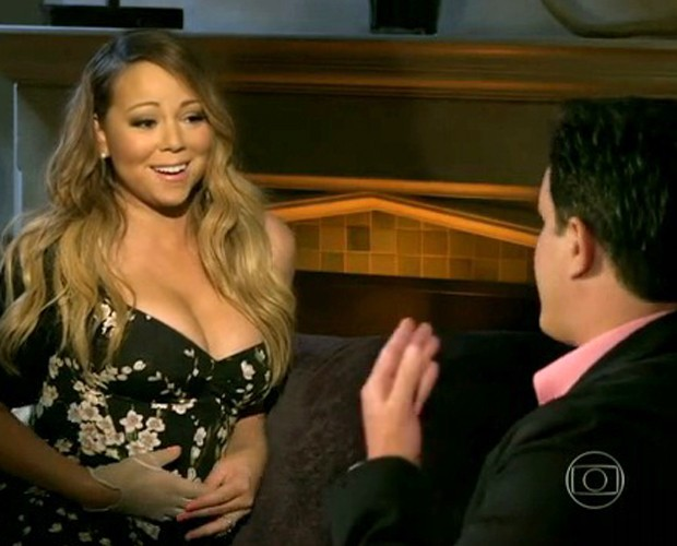 Mariah Carey dá entrevista exclusiva ao Mais Você (Foto: Mais Você / TV Globo)