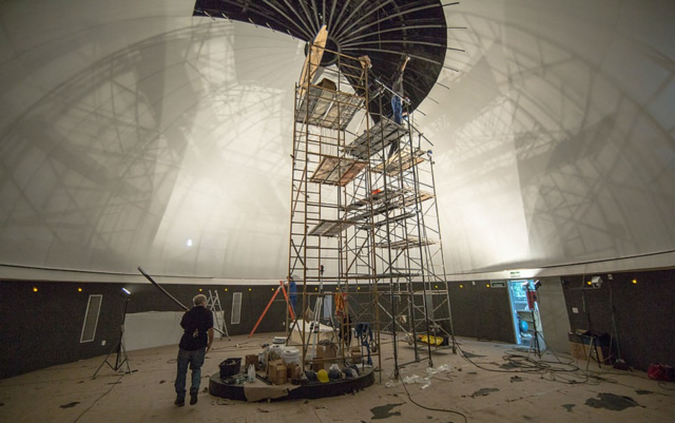 Planetário deve ser concluído até agosto, segundo estimativa da UFJF (Foto: Ciro Cavalcanti/Divulgação)