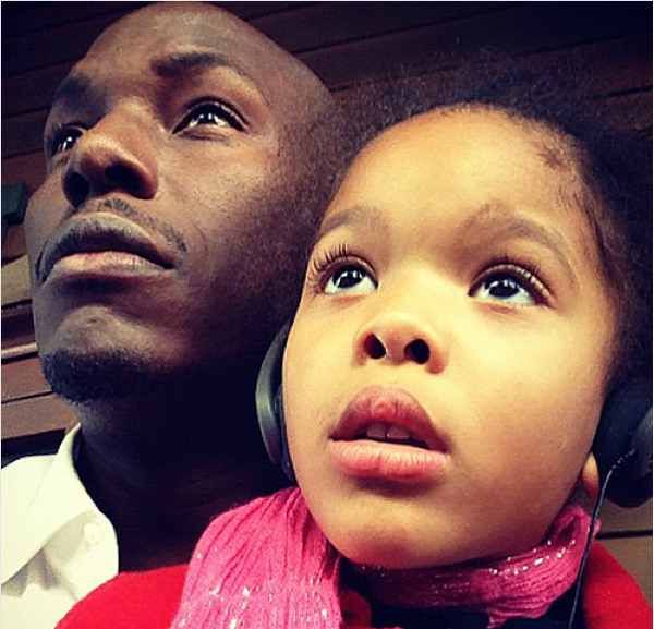 O ator Tyrese Gibson com a filha (Foto: Instagram)