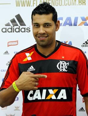 André Santos apresentação Flamengo (Foto: Cezar Loureiro/Agência O Globo)