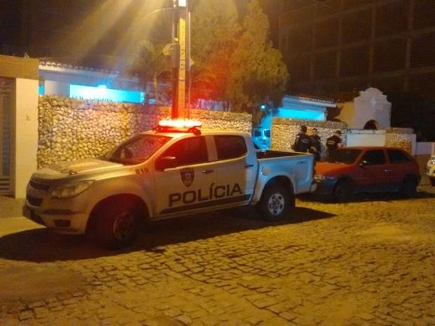Operação prende suspeitos de assaltos e homicídios em Itaporanga, no sertão da Paraíba (Foto: Rafaela Gomes/TV Paraíba)