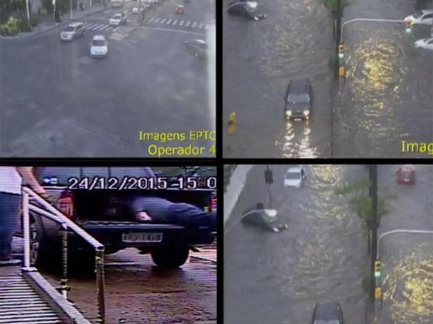 Imagens mostram flagrantes do bem em Porto Alegre (Foto: RBS TV/ Reprodução)