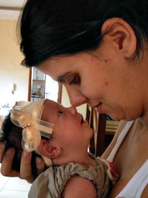 Mulher enfrenta riscos na gravidez para ser mãe em Mato Grosso do Sul (Foto: Gabriela Pavão/ G1 MS)
